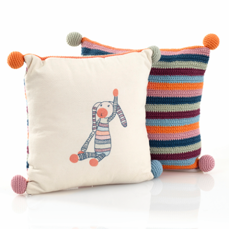 Samana Stripey Bunny Cushion