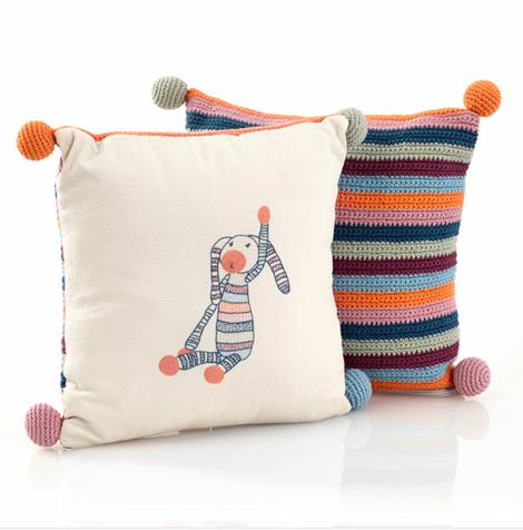 Samana Stripey Bunny Cushion