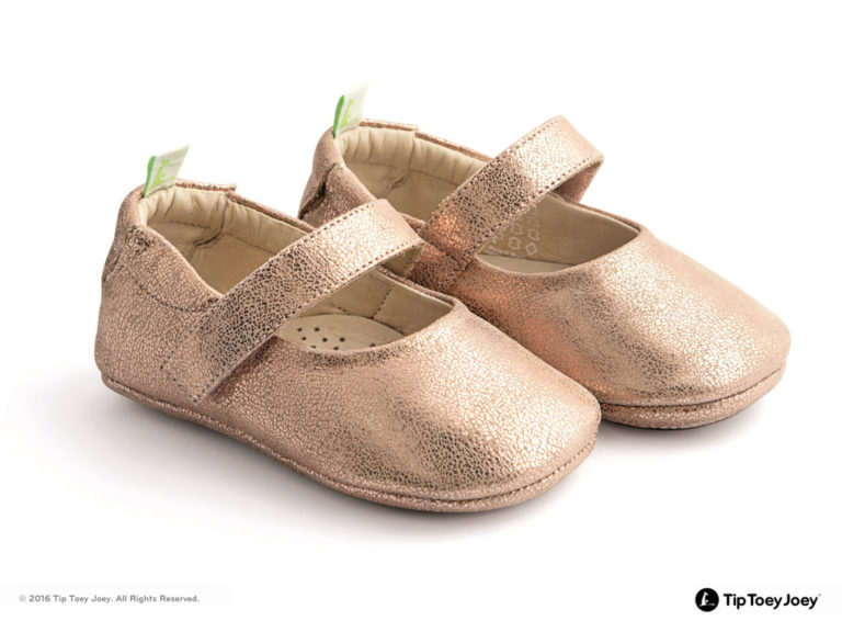 Tip Toey Joey Dolly Shoes - Salmon Crust