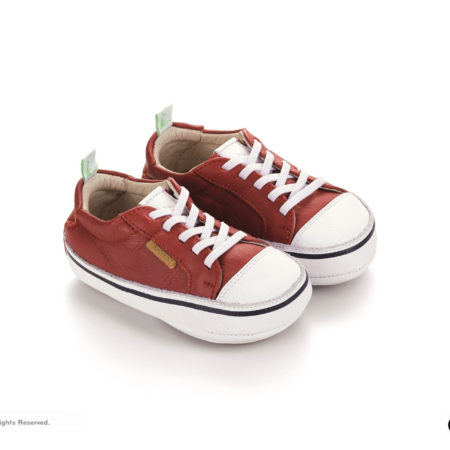 Tip Toey Joey Funky Shoes - Tomato/White