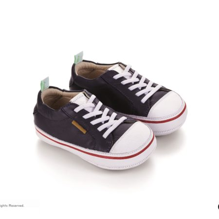 Tip Toey Joey Funky Shoes - Navy/White
