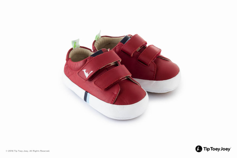 Tip Toey Joey New Flashy Shoes - Tomato/White
