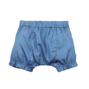 BEBE S/16 Piper Chambray Frill Shorts