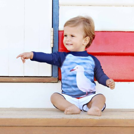 BEBE Seagull Rash Vest - Long Sleeve