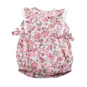 BEBE Liberty Frill Romper with Bows - Mabelle