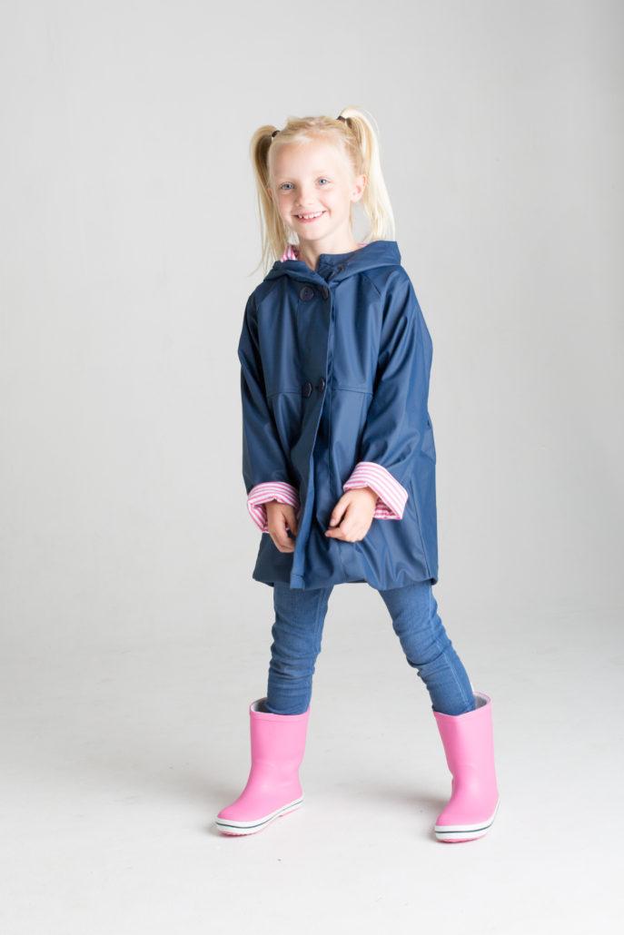 French & Soda - Raincoat - Girls Navy