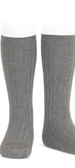 Condor rbbed knee high socks Gris Calaro #230
