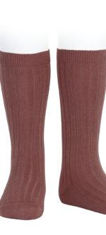 Condor ribbed knee high socks Marsala #599